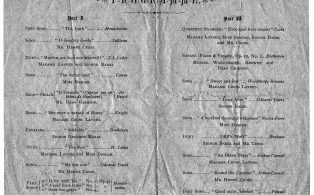 1880 Concert Programme