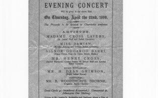 1881 Concert Programme