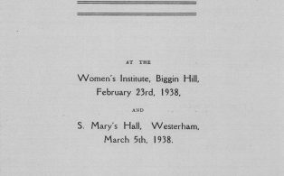 Town Band Concert programme 1938 - cover