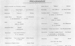 Town Band Concert programme 1938 - content