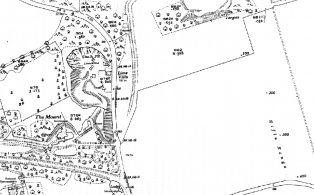 Ordnance Survey map of 800 yard rifle range across the Pilgrim's Way