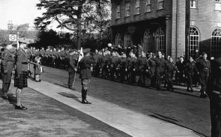 Local Home Guard divisions assemble for inspection in Edenbridge