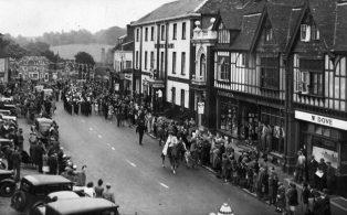 Victory celebration parade