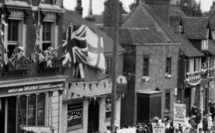 WWI Peace Celebration parade on The Green July 19th 1919  2