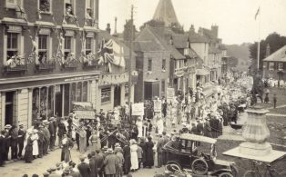 WWI Peace Celebration parade on The Green July 19th 1919  1