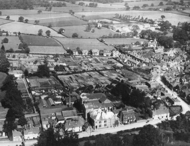 Black Eagle Brewery aerial photograph taken in 1925