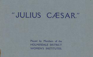 W.I. play Julius Caesar programme 1926