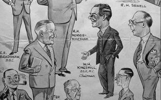 Westerham Brewery Management cartoon 1953