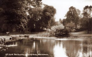 Old Mill and Lodge  on Mill Lane at Round Pond