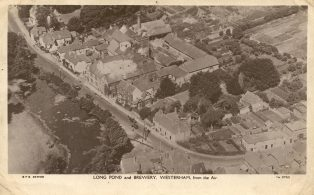 Aerial View of High Steet Including Long Pond, Brewery, General Wolfe Pub