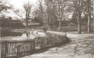 Round Pond and Mill Lane with Sluice Gate for Darent River