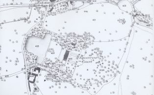 1869 Map of Long Pond, including Squerryes Court and Lake