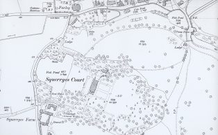 1907 Map of Long Pond, including Squerryes Court and Lake