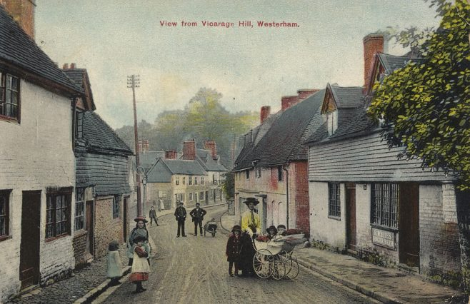Red Cow Inn was the pink building on the right in this aquatint photo-postcard. Like the White Horse at Kirkgate, this probably ceased trading in the early 1800s.