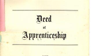 David Weller Deed of Apprenticeship