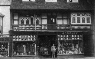 A. French drapers shop 1930s