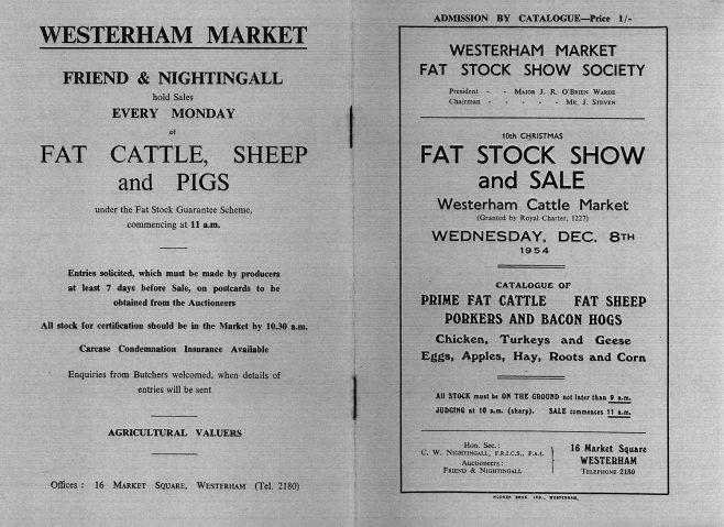 Fat Stock Show Catalogue 1954
