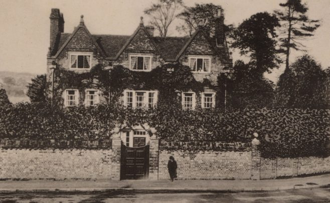 Just beyond the 'Old House Inn' in the previous shot stood Quebec House shown here, originally known as 'Spiers' and the childhood home of James Wolfe. This photograph dates from around 1900 when the house was divided into Quebec House West and East.