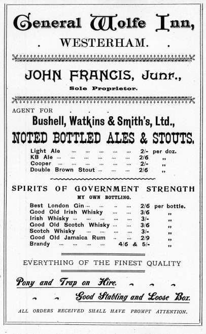 Within a year of the last photograph this advertisement from Hookers' Almanack in 1903 shows the takeover was complete and the trading title now read as 'Bushell, Watkins & Smith's Ltd.'