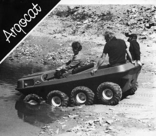 """The basic Argo was around five thousand pounds in the 1980s, but if you added all the extras such as a snow plough, snow tracks, a sump shield, a winch, canopy, windshield with wipers and other stuff, that price could double. I remember there was an Argo on Gruinard Island off the coast of Scotland, where they did the Anthrax testing for biological warfare. It came down to us for servicing and we were told it was thoroughly decontaminated, but when we took the floor pans out the bottom of the body shell was full of water. It has drain plugs that you can remove, but nobody had done that and there were fish swimming around in the water! The Argo had a ladder frame chassis of 3mm folded steel, and when you took them over rough terrain you could feel the body move about - the chassis was designed to do that. With six or eight wheels in an extreme situation where you had opposing wheels on either side being the only contact with terra-firma you could really feel it as the chassis would literally twist as it was designed to do. It was a similar feeling but on a smaller scale to what you'd feel in the converted car. For a major overhaul the whole plastic body would come off in two halves, giving you access to the chain-drive, sprockets, axles, engine and gearbox"""". We did a lot of 'field-maintenance' - I've replaced engines and re-built gearboxes on mountain-sides and all-sorts, and I'm sure there were one or two instances when I couldn't repair them but I can't recall any actual occasions so there can't have been that many."""