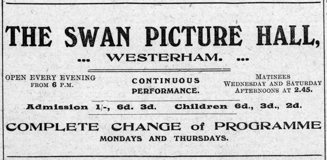 The original promotion advertisement that appeared in the Westerham Herald newspaper in May 1914.