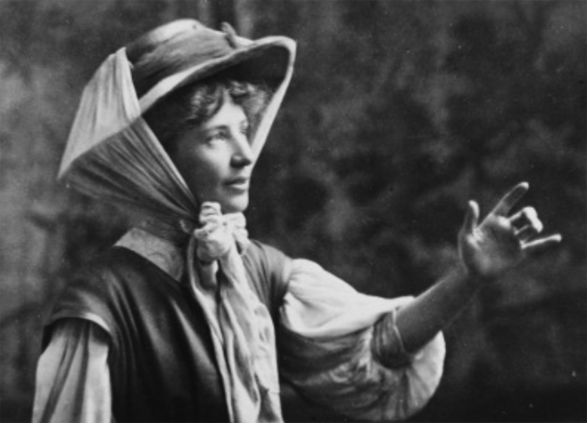 A strong-minded campaigner for Women's Rights, through the summer of 1908, Matters took her place as 'Organiser in Charge' of the first 'Votes for Women' caravan that toured the south east counties of England.The caravan tour began in Oxshott and passed through Surrey, Sussex and Kent.