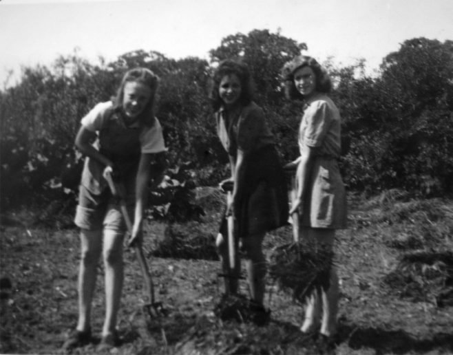 At the end of the war, the Land Army girls were very good to us and sometimes they would take some of us out to tea or take us to Hosey Hill to pick horse chestnuts. They also treated us to a day at the Westerham Carnival. In the early 1950s, someone gave the home a big television and we sat all day watching the Queen's Coronation and we were even given a packed lunch and packed tea to eat in front of the telly. After it was all finished it was hot chocolate and biscuits then off to bed. All of our beds had a rug and a patchwork quilt which were all made by the girls from the age of 13 upwards.