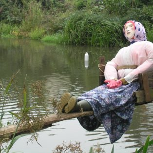 Re-enactment of Ducking of Westerham Scold Hannah Saxby