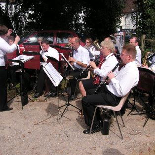 The Halstead Concert Band at the RNLI fundraising event at the Long Pond, Sept 2007